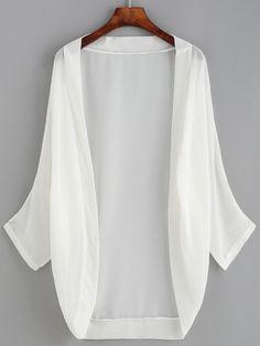 SheIn offers Dropped Shoulder Chiffon Kimono & more to fit your fashionable needs. Kimono Outfit, Blouse Dress, Kimono Cardigan, Fancy Dress Design, Kimono Design, Abaya Fashion, Kimono Fashion, Fashion Outfits, Funky Dresses