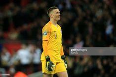 News Photo : Jordan Pickford of England celebrates England...