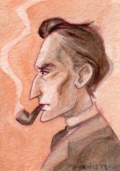 Sherlock Holmes by FromMyHat on Etsy #sherlockholmes #fanart