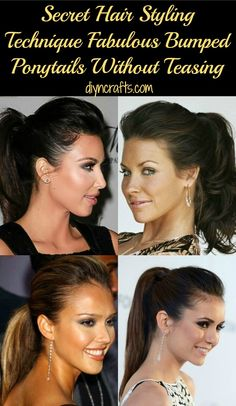 This is a great method for those of you who like the bumped ponytail look but have little time to create it.