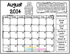 2014-2015 Clip Chart Calendars and Interactive Notebooks