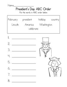 President's Day ABC order