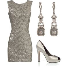 Now, you know I love that! This outfit would be perfect for New Year's Eve!