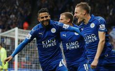 Riyad Mahrez and Jamie Vardy