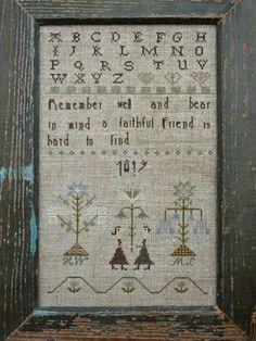A Faithful Friend Sampler $12.00