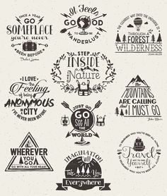 Wanderlust Logo Pack, 22% Off by Stella's Graphic Supply on Creative Market