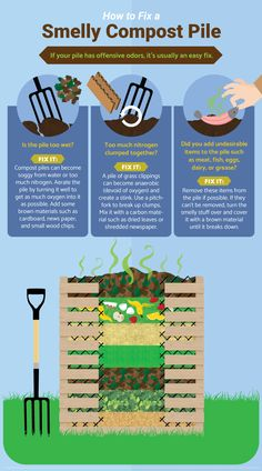 How to Fix a Smelly Compost Pile - Guide to Home Composting