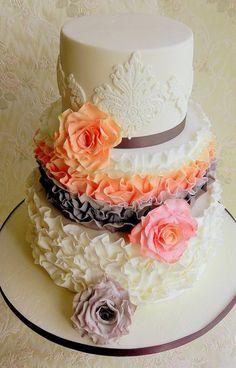 cake deco ireland | Ruffle Cake - by onceuponatimecakes @ CakesDecor.com - cake decorating ...