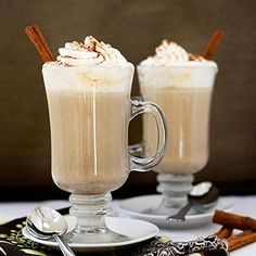 Hot chocolate recipes for fall: Pumpkin White Hot Chocolate Cocoa Recipes, Hot Chocolate Recipes, Chocolate Lovers, Chocolate Chips, Baking Recipes, Pumpkin Recipes, Fall Recipes, Drink Recipes, Pumpkin Foods