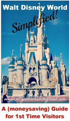 It's ALL Good in Mommyhood: Simplifying Walt Disney World: A (moneysaving) Guide for Your First Visit