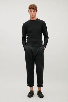 COS | Relaxed crepe wool trousers