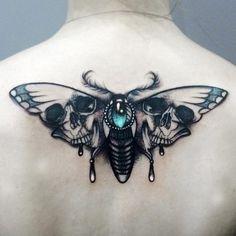 Popular Tattoos and Their Meanings Ink Tattoos, Moth tattoo, Death moth tattoo Hello! Here we have best wallpaper about moth tattoo design. Luna Moth Tattoo, Moth Tattoo Design, Bug Tattoo, Tattoo Designs, Tatoo Henna, Lace Tattoo, Skull Tattoos, Body Art Tattoos, Inspiration Tattoos