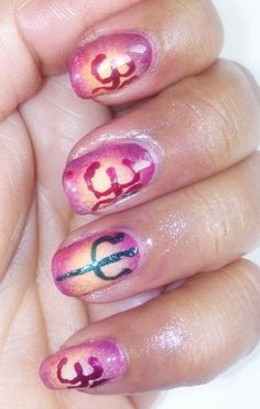 Indian Nailart... http://nailfame.blogspot.in/2014/02/maha-shivratri-special-nail-art.html