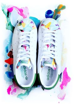 cbd64fc63f8b Adidas Stan Smith 白蓮 • I made this custom for a friend recently Adidas  Outfit