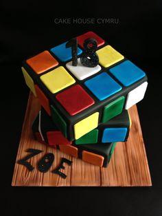 18th Birthday Cake - #Rubick's Cube Cake Beautiful Cakes, Amazing Cakes, Biscuits, 18th Birthday Cake, Rubik's Cube, Big Cakes, Cake Making, Novelty Cakes, Edible Art