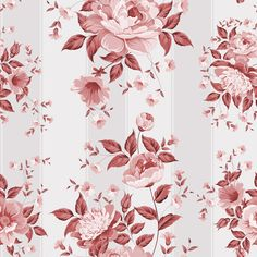 beautiful flowers with vintage seamless pattern vector 02