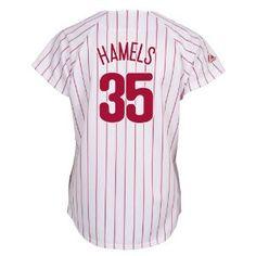 MLB Cole Hamels Philadelphia Phillies Women's White/Scarlet Fashion Replica Jersey --- http://www.pinterest.com.yolo.bz/4ar