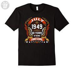 Mens July 1949 68th Birthday 68 Years Old Gift T-Shirt Large Black - Birthday shirts (*Amazon Partner-Link)