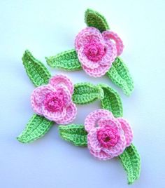 crochet patches flowers
