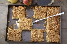 Looking for a cake recipe you can whip up quickly? Our Apple Cake with Oatmeal Streusel Topping is the one you're looking for! This super-moist cake is studded with chunks of apple, then topped with a buttery oatmeal, walnut and cinnamon streusel. Kraft Recipes, Apple Recipes, Cake Roll Recipes, Dessert Recipes, Oatmeal Streusel Topping Recipe, Chocolate Roll Cake, Campfire Desserts, What's Cooking, Cooking Recipes