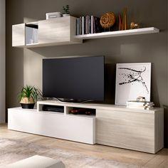 Tv Furniture, Furniture Design, Bookshelves With Tv, Tv Stand Decor, Rack Tv, Muebles Living, Bookshelf Design, Pallet Tv Stands, Home Interior Design