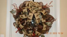 Holiday Hunter's Deco Mesh Wreath