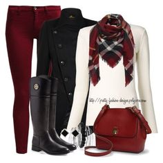 """~ Matching Jeans & Scarf ~"" by pretty-fashion-designs ❤ liked on Polyvore featuring Sisley, Chloé, Avenue, Tory Burch, Lauren Ralph Lauren and Yvel"