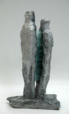 "Skulptur Glas/Stein ""Zwischenwelt"" Bookends, Objects, Glass, Home Decor, Art, Sculptures, Stones, Homemade Home Decor, Craft Art"