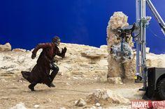 Chris Pratt as #PeterQuill filming Marvel's Guardians of the Galaxy #StarLord @prattprattpratt #GuardiansOfTheGalaxyEvent