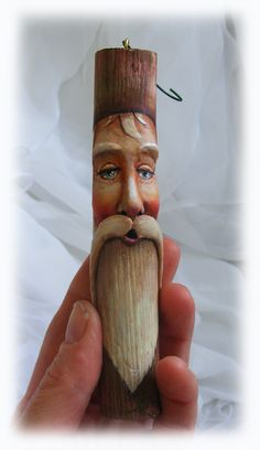 Eco-friendly ornament spirit santa carved wood carving green man.