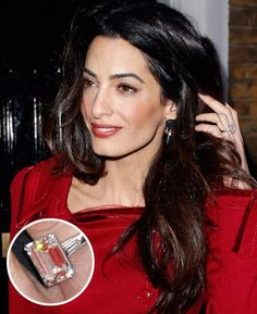 Scroll the best celebrity engagement rings to see what sparklers these iconic women have rocked. Celebrity Rings, Celebrity Engagement Rings, Best Engagement Rings, Celebrity Jewelry, Solitaire Engagement, Types Of Wedding Rings, Wedding Ring Bands, Amal Clooney Wedding, Flower Jewellery For Mehndi