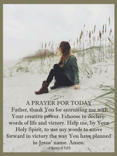 Words of life and victory...More at http://beliefpics.christianpost.com/  #prayer #pray