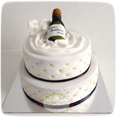 Champagne bottle cake Cake Cookies, Cupcake Cakes, Cupcakes, 18th Cake, Bottle Cake, Cookie Cake Birthday, French Cake, Champagne Cake, Girly Cakes