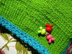 DIY simple knitting scarf