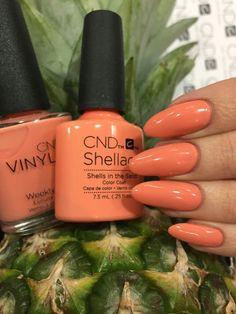 CND Shellac Rhythm & Heat: Shells in the sand - shellac nails Shellac Nail Polish, Shellac Nail Colors, Gel Nails, Manicures, Cnd Shellac Nails Summer, Cnd Colours, No Chip Manicure, Sand Nails, Accent Nail Designs