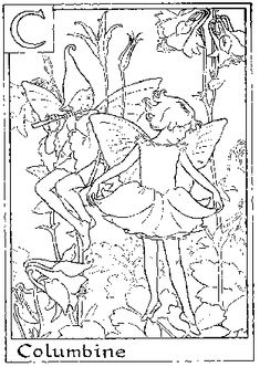 flower fairies color pages...