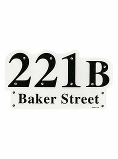221B Baker Street Sticker | Hot Topic