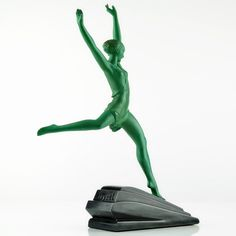Max Le Verrier 1930s Art Deco Nude Dancer Sculpture Olympie by Le Faguays Fayral | eBay