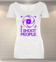 Tricou Dama Personalizat I Shoot People Mai, T Shirts For Women, Funny, People, Tops, Fashion, Moda, Fashion Styles, Fasion