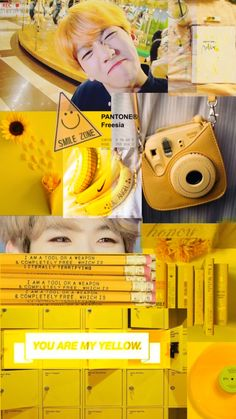 Baekhyun wallpaper with yellow. Chanbaek, Aesthetic Backgrounds, Aesthetic Wallpapers, Baekhyun Wallpaper, Exo Lockscreen, Best Iphone Wallpapers, Colorful Wallpaper, Kpop Aesthetic, Screen Wallpaper