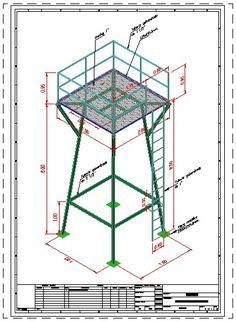 Tower water tower in AutoCAD Steel Structure Buildings, Metal Structure, Metal Buildings, Autocad, Steel Water Tanks, Tank Stand, Warehouse Design, Water Storage Tanks, Tower Design