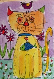 Laurel Burch kitty