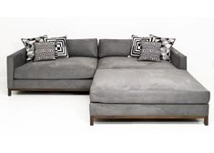 Extra New Deep Sectional in Charcoal Velvet