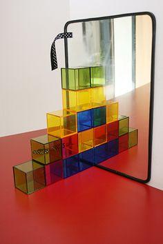 Une activité de noël pour travailler la symétrie avec des blocs de construction #hoptoys