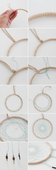 DIY Dreamcatcher Tutorial - easy step-by-step instructions on how to make an Ojibwe Dreamcatcher