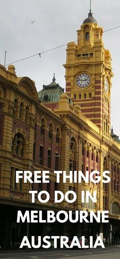 Great list of free things to do in Melbourne on a free tram. No need to spend a fortune visiting one of Australia's great cities