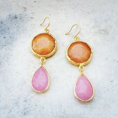 Dangle Earrings everyday fashion long DUAL large by YUNILIsmiles Bags Online Shopping, Shopping Hacks, Online Bags, Gemstone Earrings, Dangle Earrings, Vintage Jewelry, Unique Jewelry, Luxury Jewelry, Earrings Photo