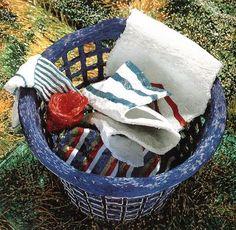 Liza Lou's beaded art - the laundry hamper