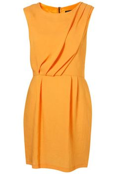 A bold, black zipper down the back turns this sunshiny dress in to a more formal affair.