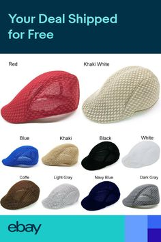 77ecaf0ec92 Mens Winter Knit Newsboy Gatsby Cap Ivy Hat Golf Driving Flat Cabbie ...